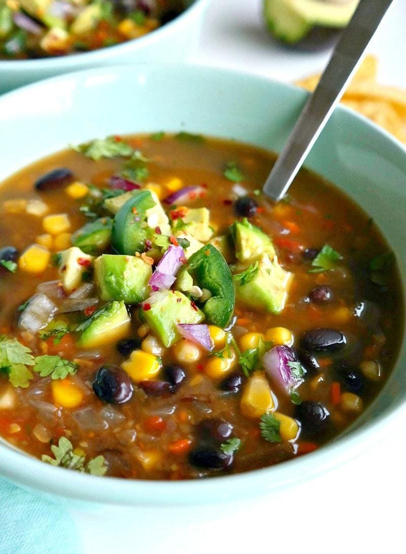 Vegan Broth Recipes  Spicy Vegan Black Bean Soup The Glowing Fridge