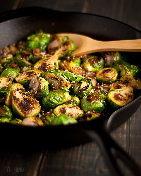 Vegan Brussel Sprouts Recipes  Caramelized Brussels Sprouts The Vegan Road