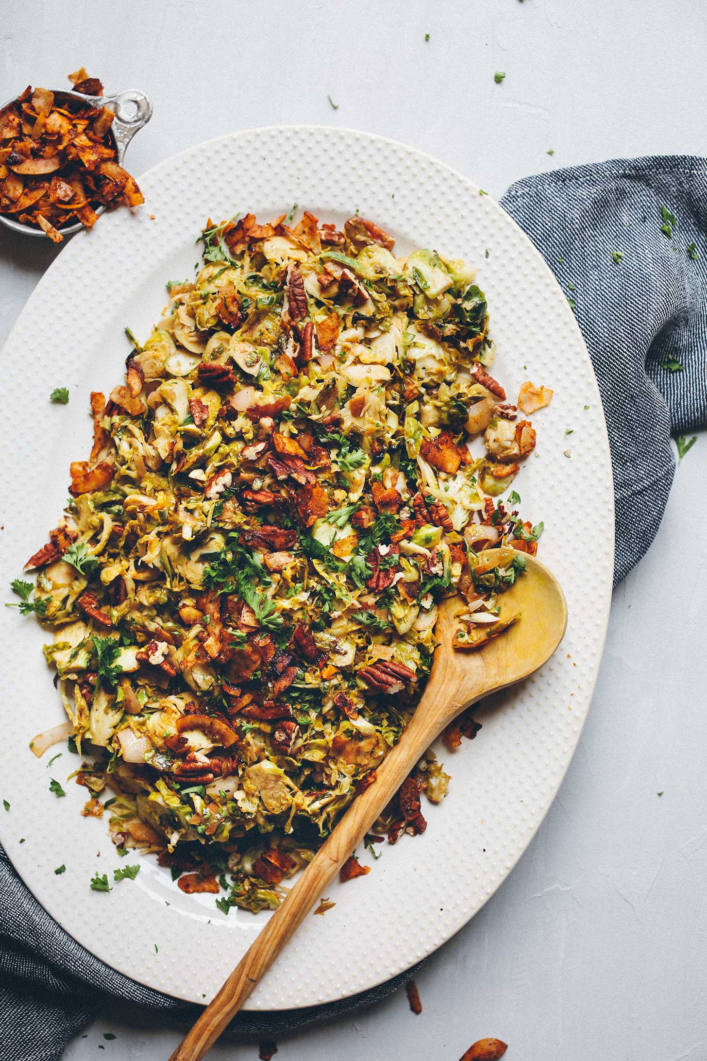 Vegan Brussel Sprouts Recipes  Brussels Sprout Slaw with Coconut Bacon