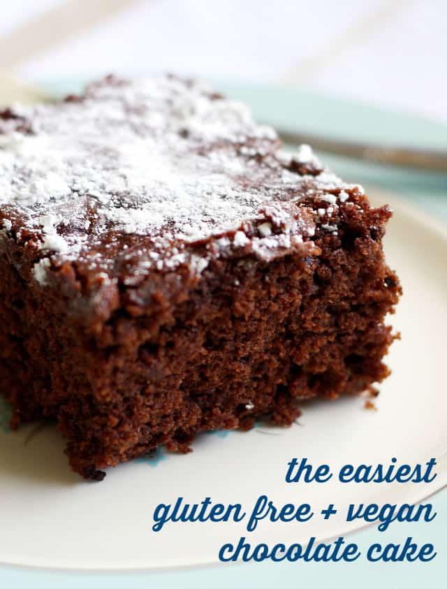 Vegan Cake Recipe Easy  The Easiest Gluten Free and Vegan Chocolate Cake The