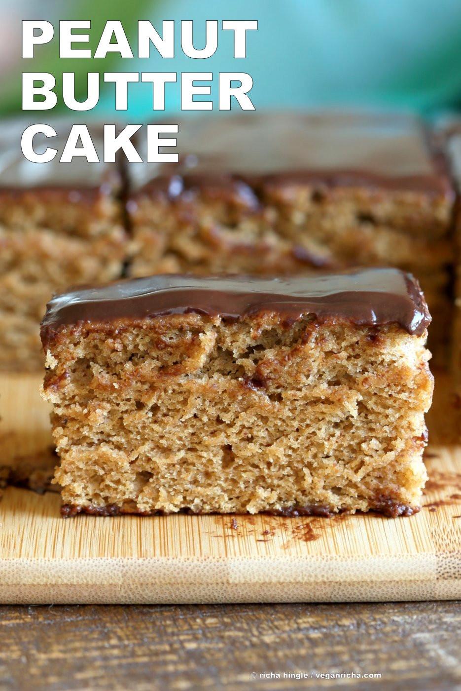 Vegan Cake Recipe Easy  Vegan Peanut Butter Cake with Chocolate Peanut Butter