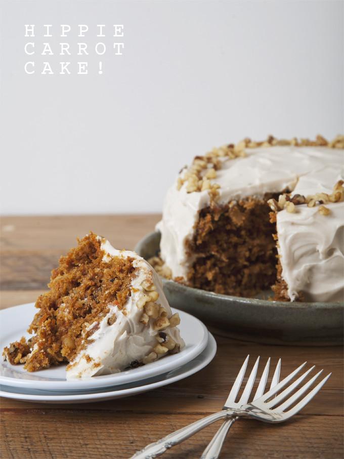 Vegan Cake Recipe Easy  Hippie Vegan Carrot Cake with Cream Cheese Icing