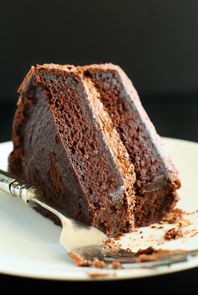 Vegan Cake Recipe Easy  Simple Vegan Chocolate Cake