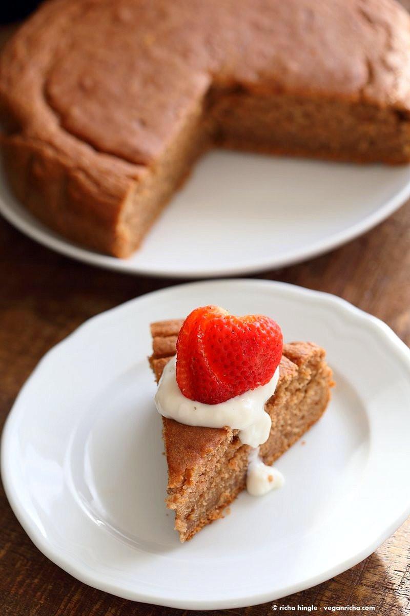 Vegan Cake Recipe Easy  1 Bowl Strawberry Cake Vegan Richa