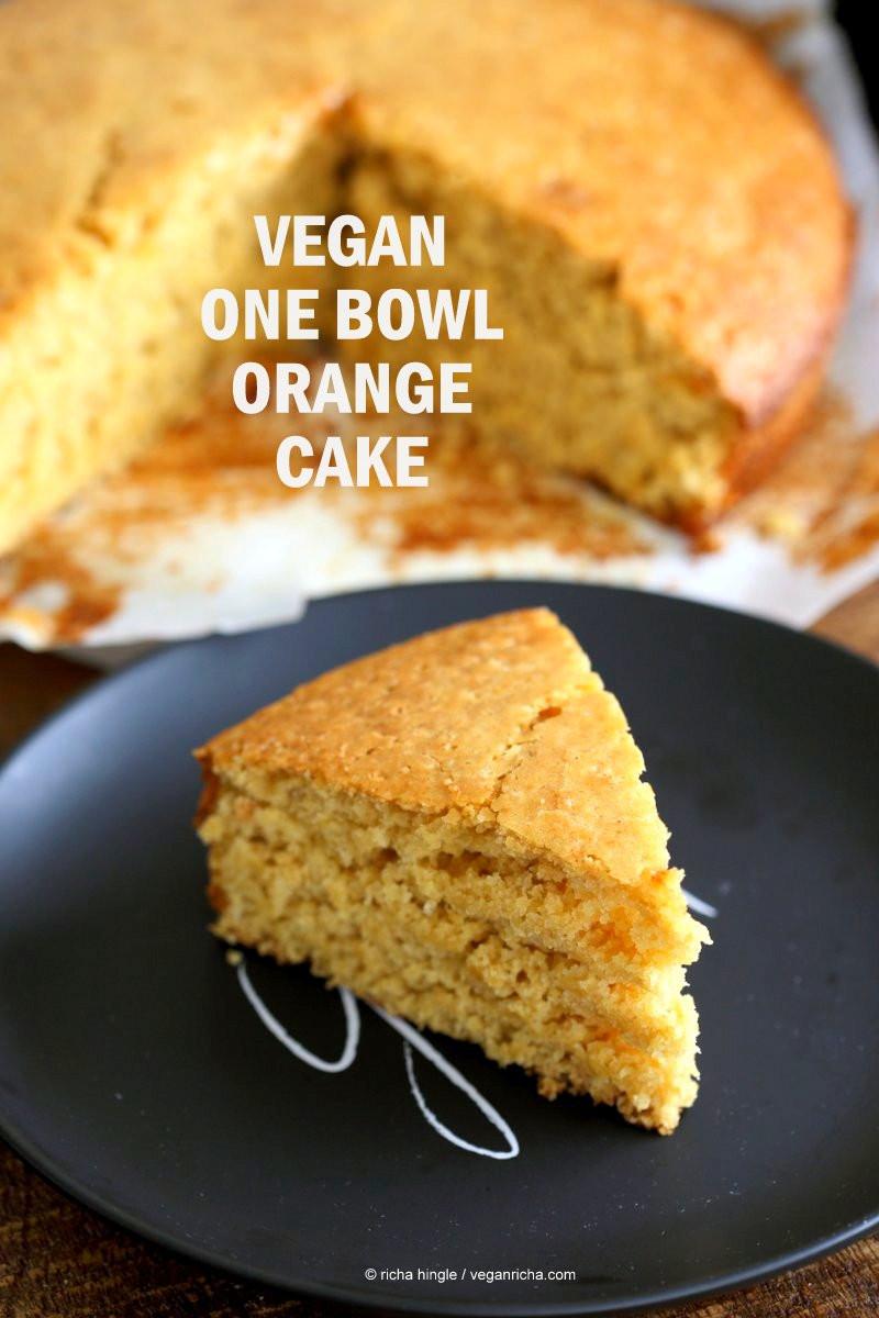 Vegan Cake Recipe Easy  e Bowl Vegan Orange Cake Vegan Richa