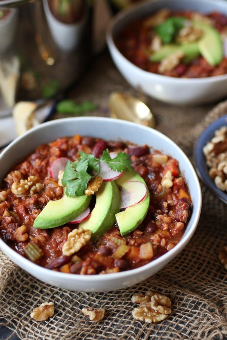 Vegan Carb Free Recipes  Vegan Keto Walnut Chili