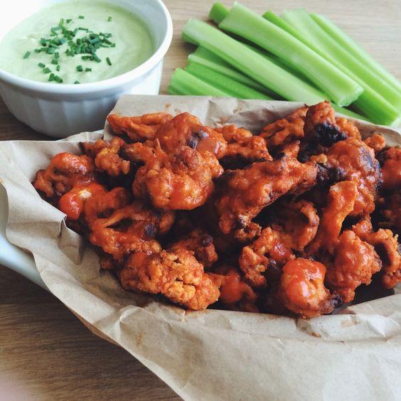 Vegan Cauliflower Wings  9 Vegan Snacks for Super Bowl Sunday