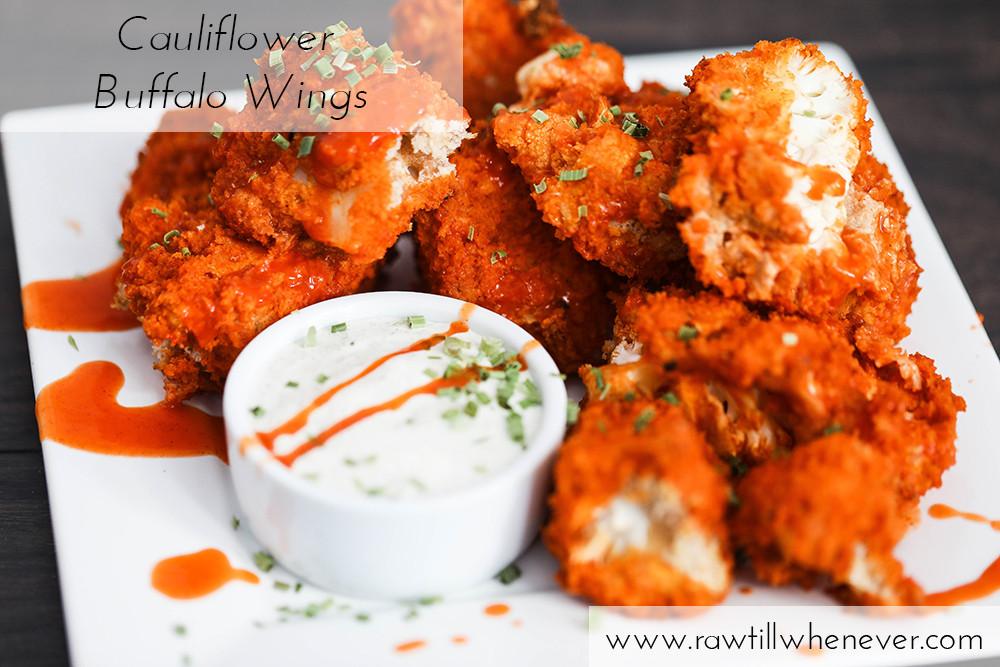 Vegan Cauliflower Wings  Cauliflower Buffalo Wings Vegan & Low Fat Raw Till
