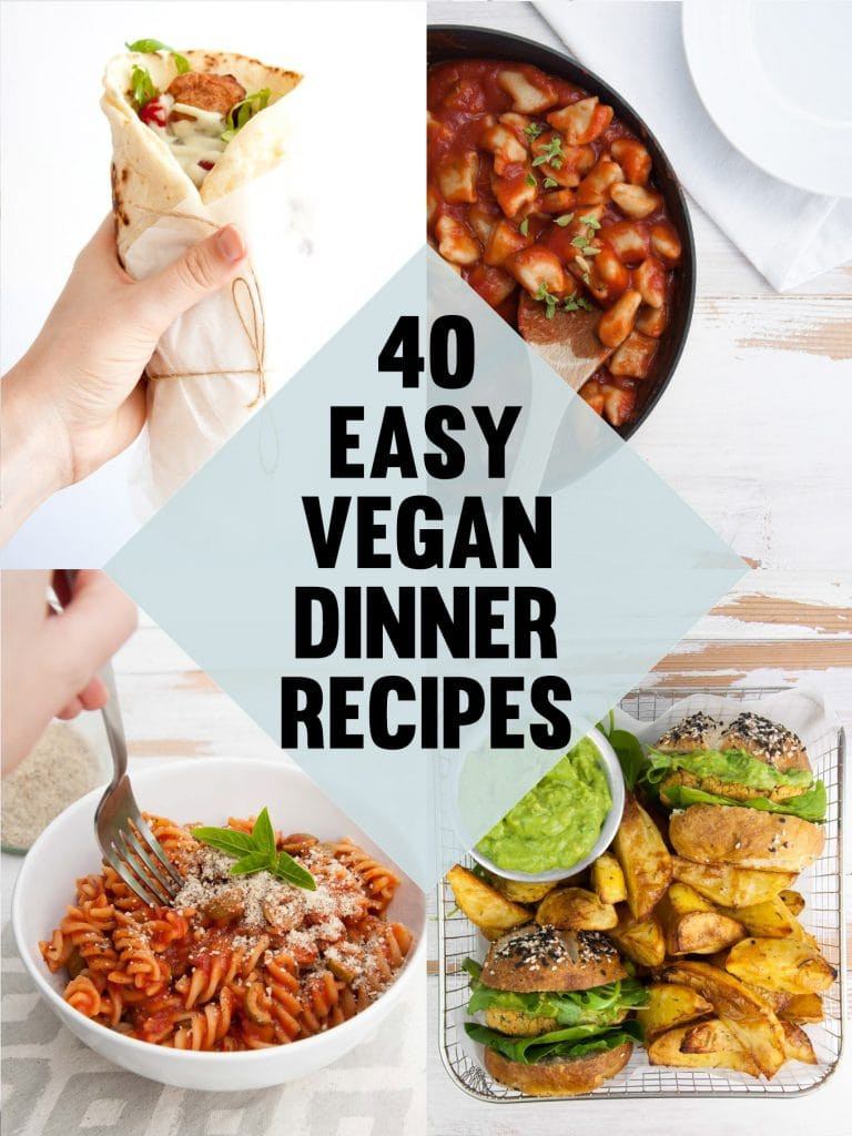 Vegan Chef Recipes  40 Easy Vegan Dinner Recipes