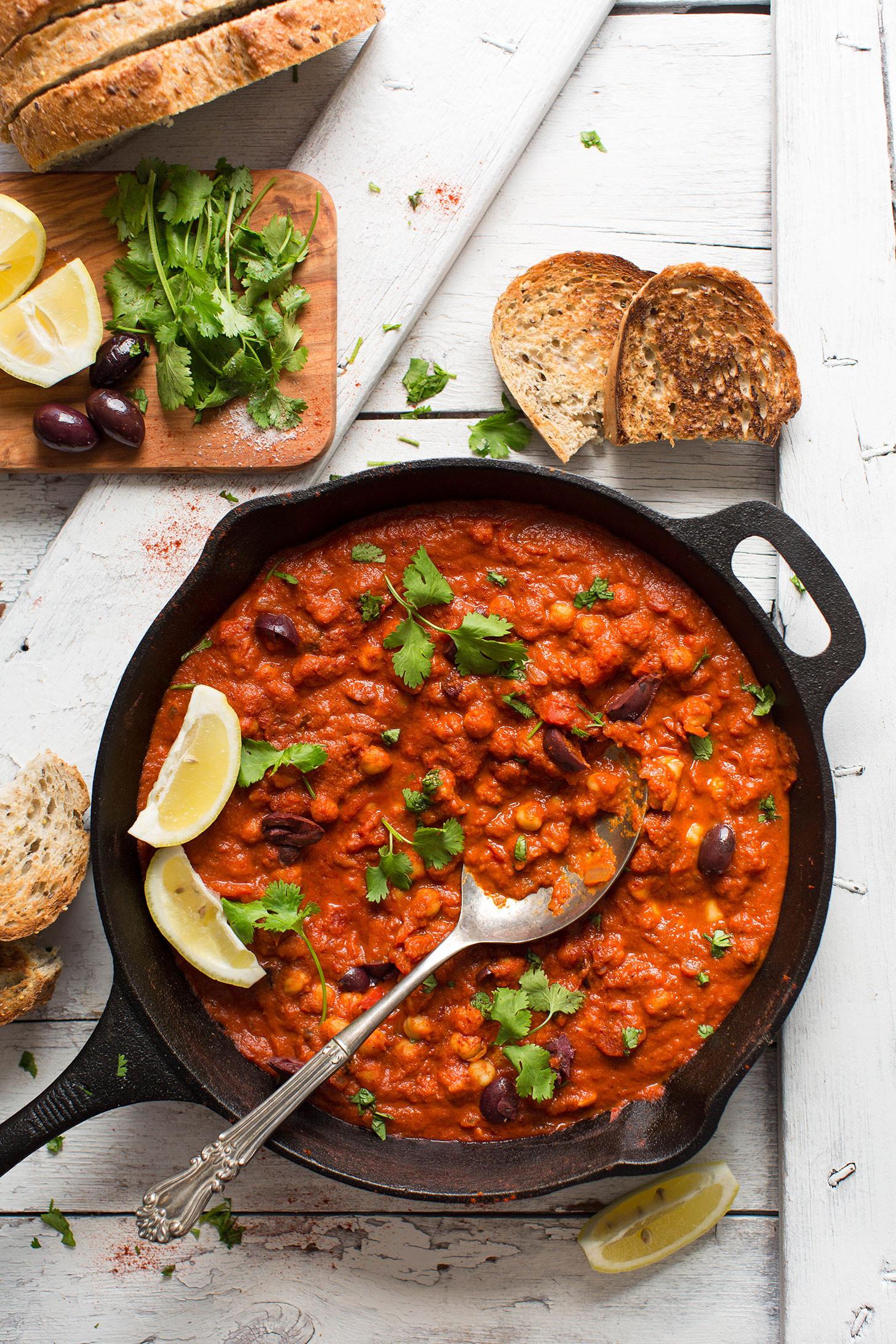 Vegan Chef Recipes  1 Pot Chickpea Shakshuka