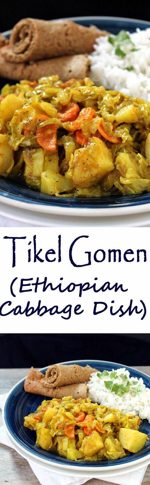 Vegan Chef Recipes  Tikel Gomen Ethiopian Cabbage Dish