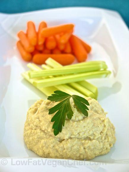 Vegan Chef Recipes  Low Fat Vegan Chef s Oil Free Low Fat Chickpea Hummus