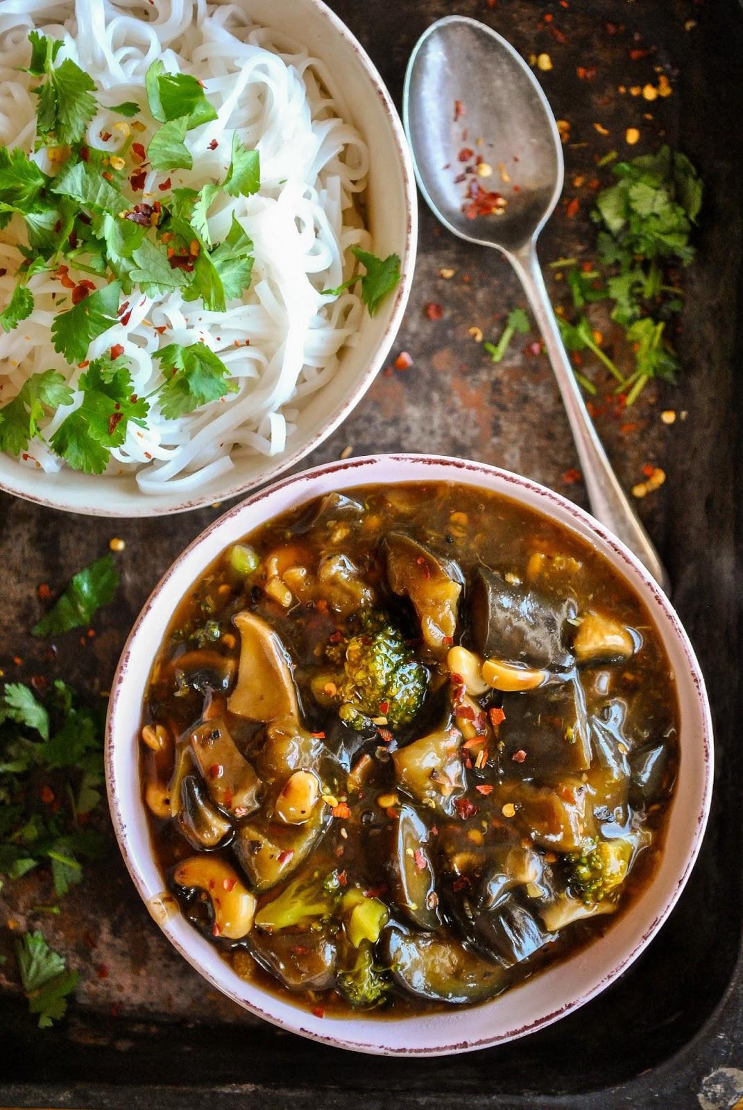 Vegan Chinese Recipes  Vegan Chinese eggplant with spicy garlic sauce VeganSandra