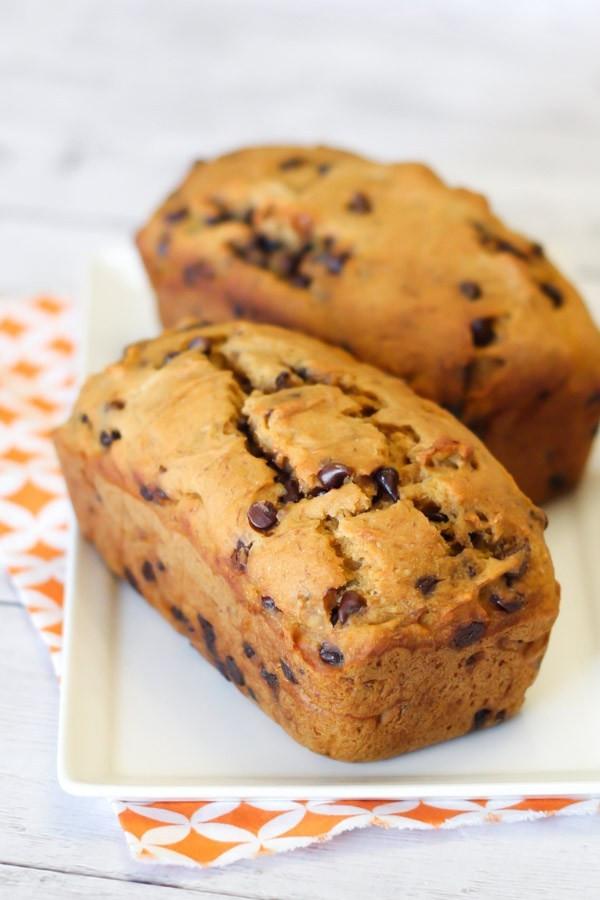 Vegan Chocolate Chip Banana Bread  gluten free vegan chocolate chip pumpkin banana bread