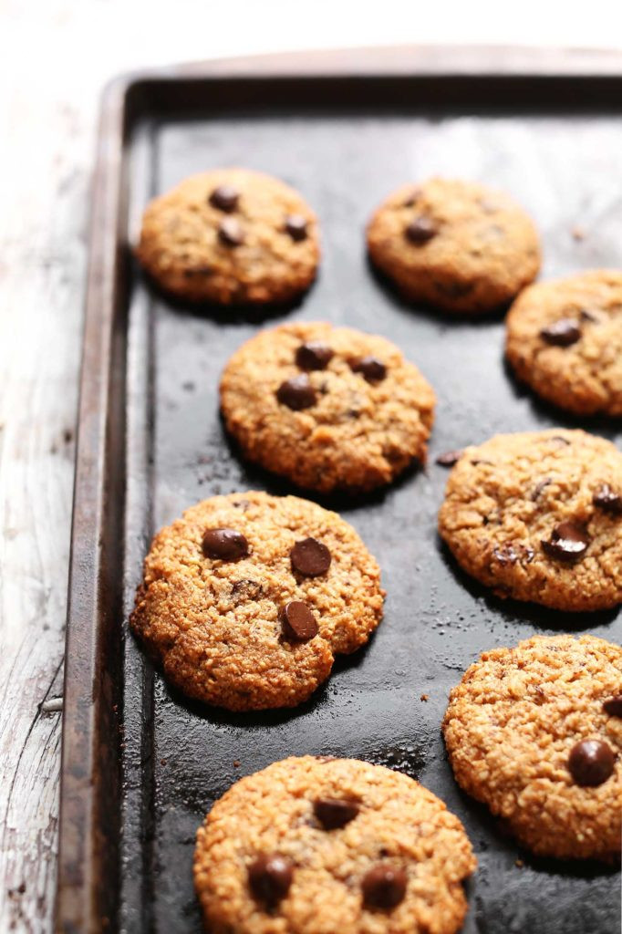 Vegan Chocolate Chip Cookies Minimalist Baker  Chocolate Chip Almond Meal Cookies