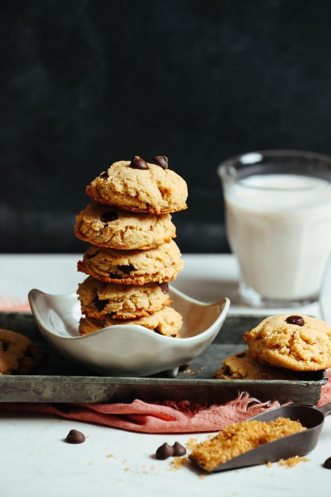 Vegan Chocolate Chip Cookies Minimalist Baker  Vegan Gluten Free Chocolate Chip Cookies