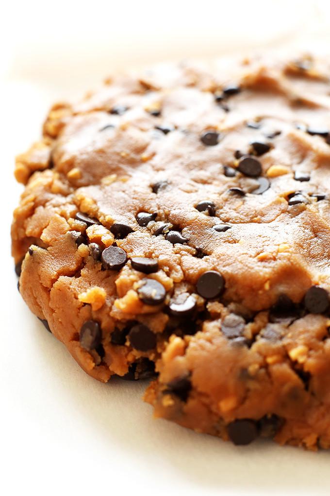 Vegan Chocolate Chip Cookies Minimalist Baker  Peanut Butter Cookie Dough Ice Cream