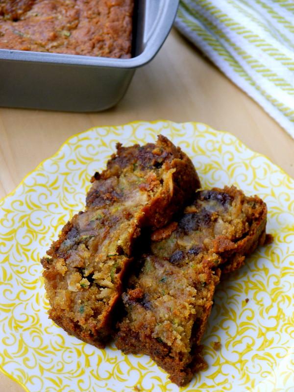 Vegan Chocolate Chip Zucchini Bread  Vegan Dark Chocolate Chip Zucchini Bread My Bacon