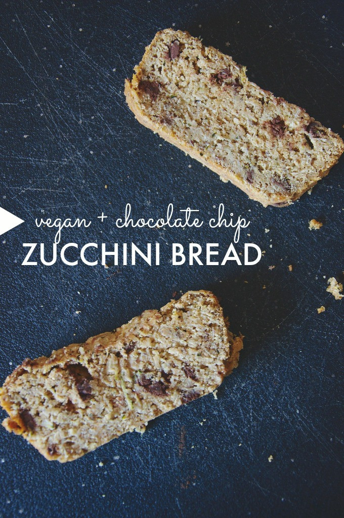 Vegan Chocolate Chip Zucchini Bread  neverhomemaker Chocolate Chip Zucchini Bread Vegan