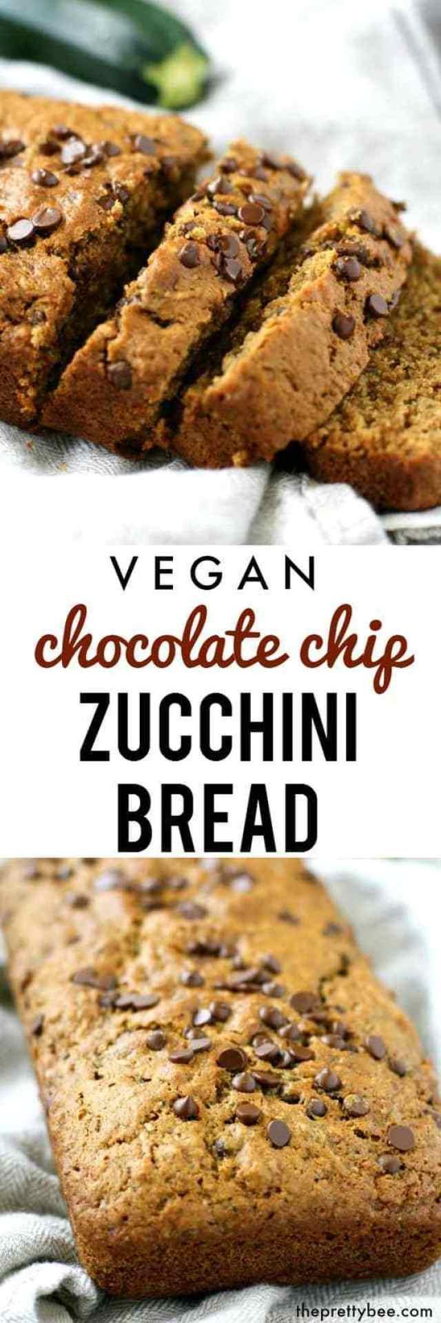 Vegan Chocolate Chip Zucchini Bread  Vegan Chocolate Chip Zucchini Bread The Pretty Bee