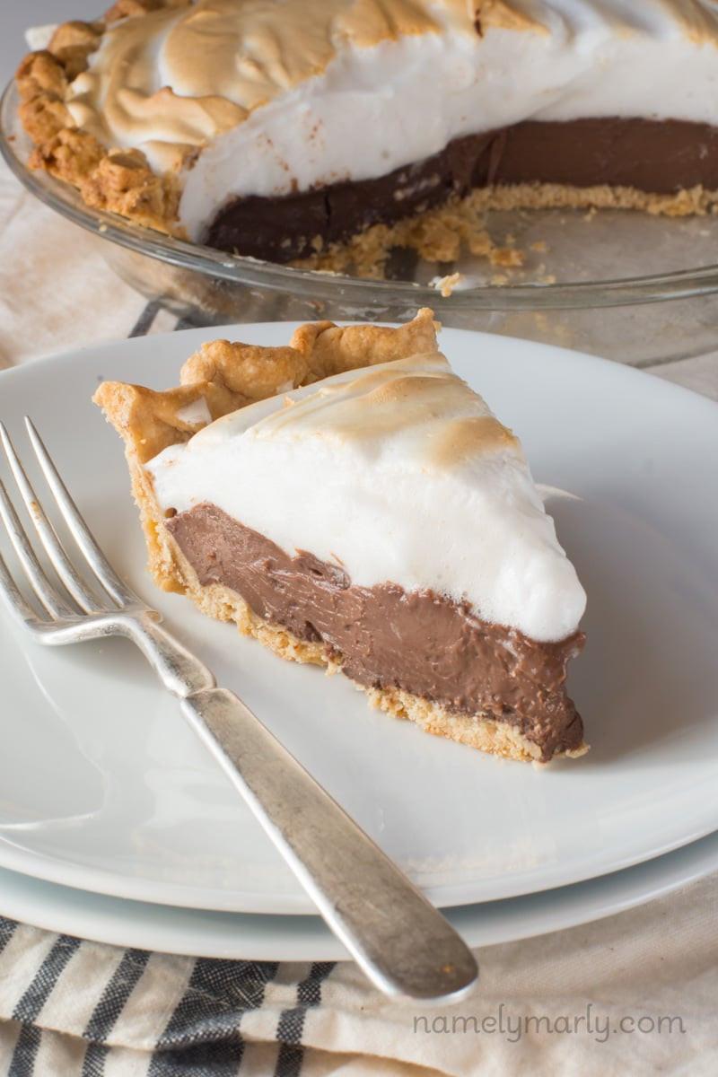 Vegan Chocolate Pie Recipe  Vegan Chocolate Meringue Pie