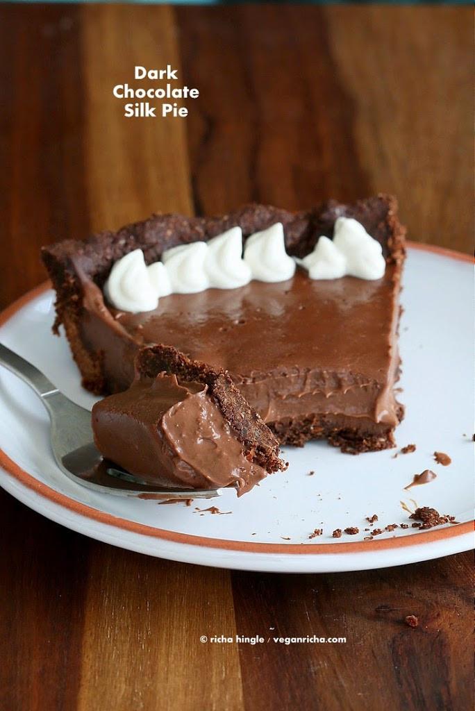 Vegan Chocolate Pie Recipe  Dark Chocolate Silk Pie with Chocolate Almond Crust Vegan