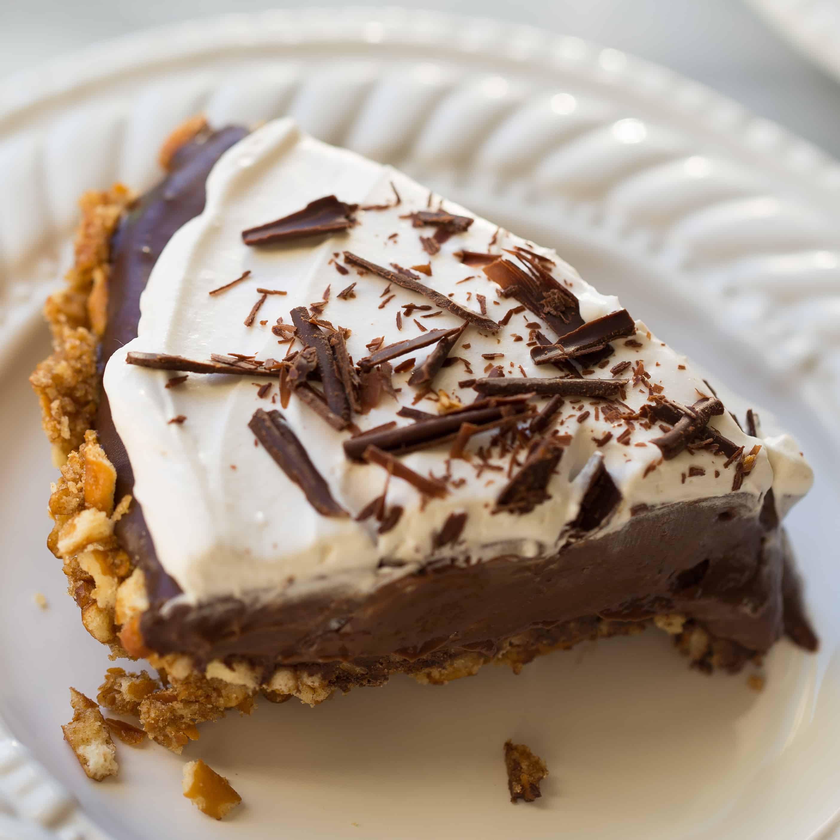 Vegan Chocolate Pie Recipe  Gluten Free Vegan Chocolate Pudding Pretzel Pie