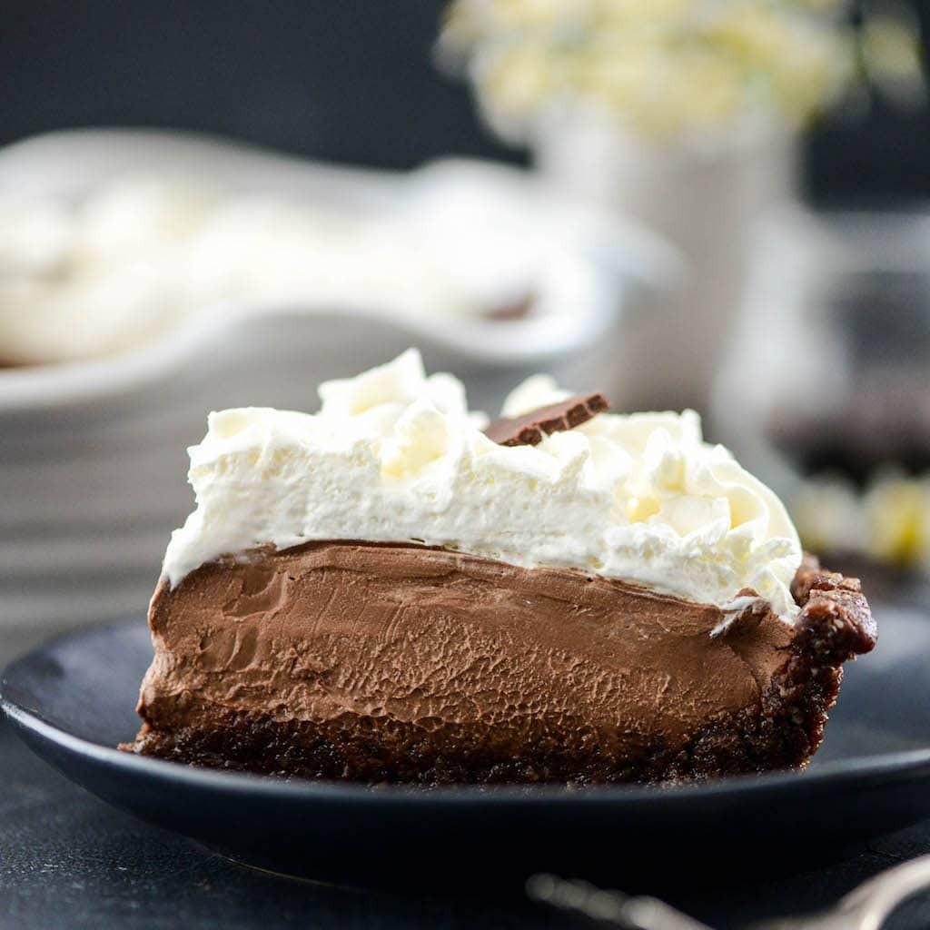 Vegan Chocolate Pie Recipe  Vegan Chocolate Pie JoyFoodSunshine