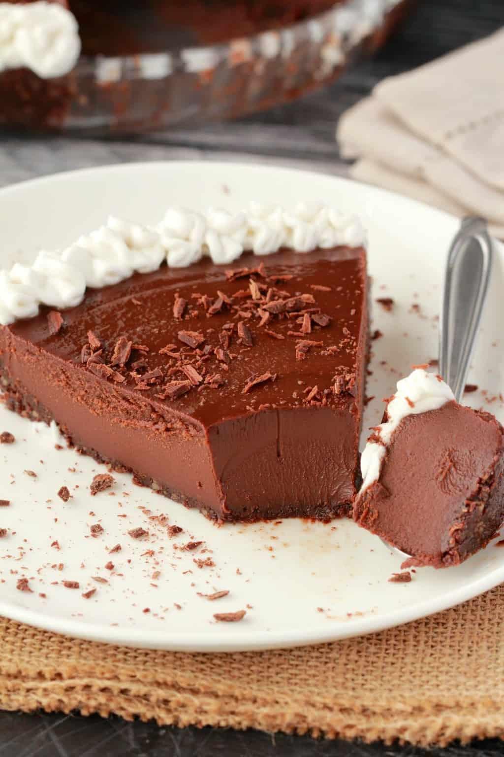 Vegan Chocolate Pie Recipe  Ultra Rich No Bake Vegan Chocolate Pie Loving It Vegan