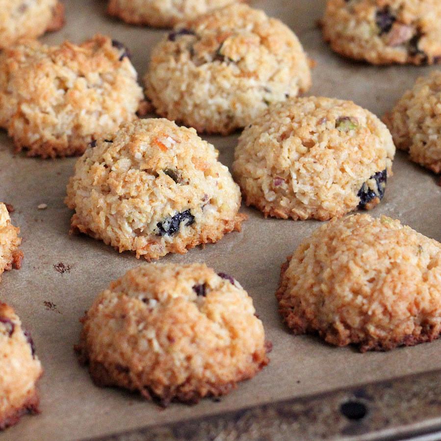 Vegan Coconut Cookies Recipes  Zesty Coconut Macaroons with Cranberries and Pistachios