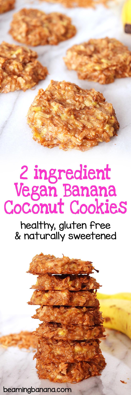 Vegan Coconut Cookies Recipes  Vegan Banana Coconut Cookies Beaming Banana