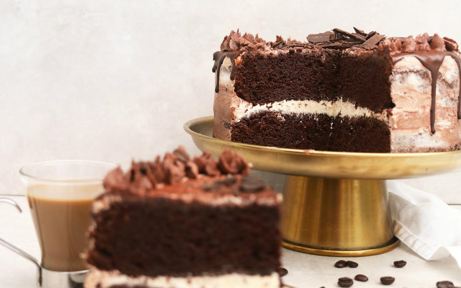 Vegan Coffee Recipes  Chocolate Coffee Cake [Vegan Gluten Free] e Green