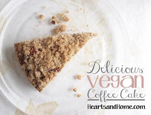 Vegan Coffee Recipes  Deliciouse Vegan Coffee Cake Recipe