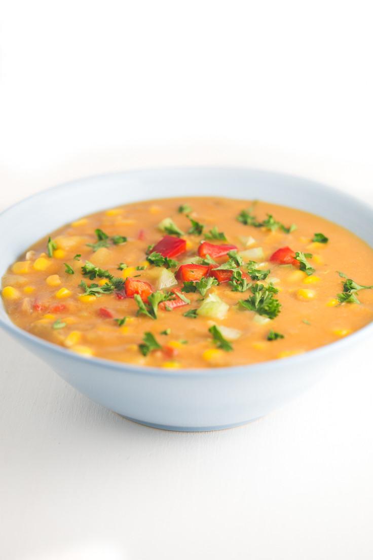 Vegan Corn Chowder  Vegan Corn Chowder