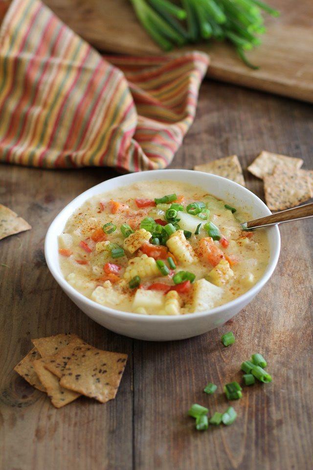 Vegan Corn Chowder  7 Easy Vegan Meals For Chilly Nights GreenBlender