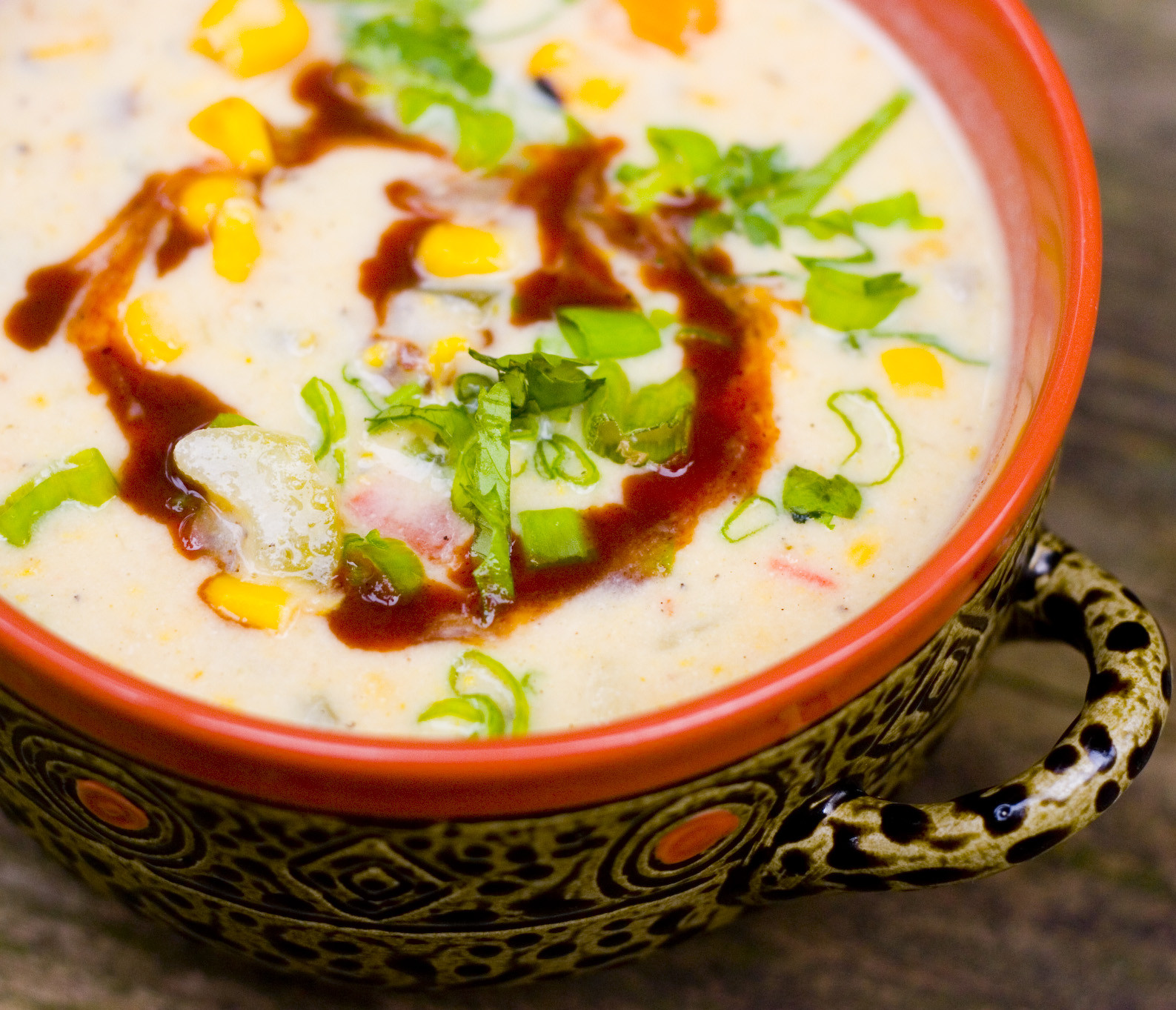Vegan Corn Chowder  No Face Plate Out of Hand Sick Delicious Corn Chowder