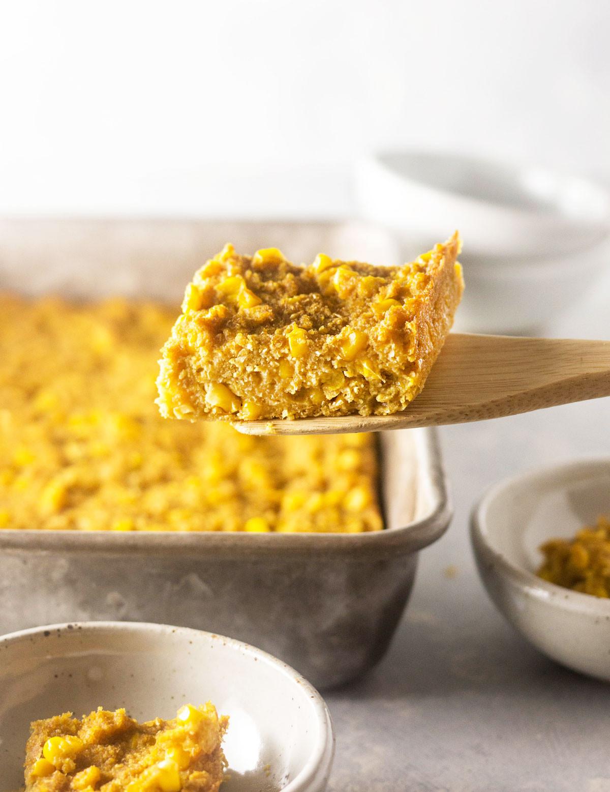Vegan Cornbread Casserole  Vegan Corn Casserole