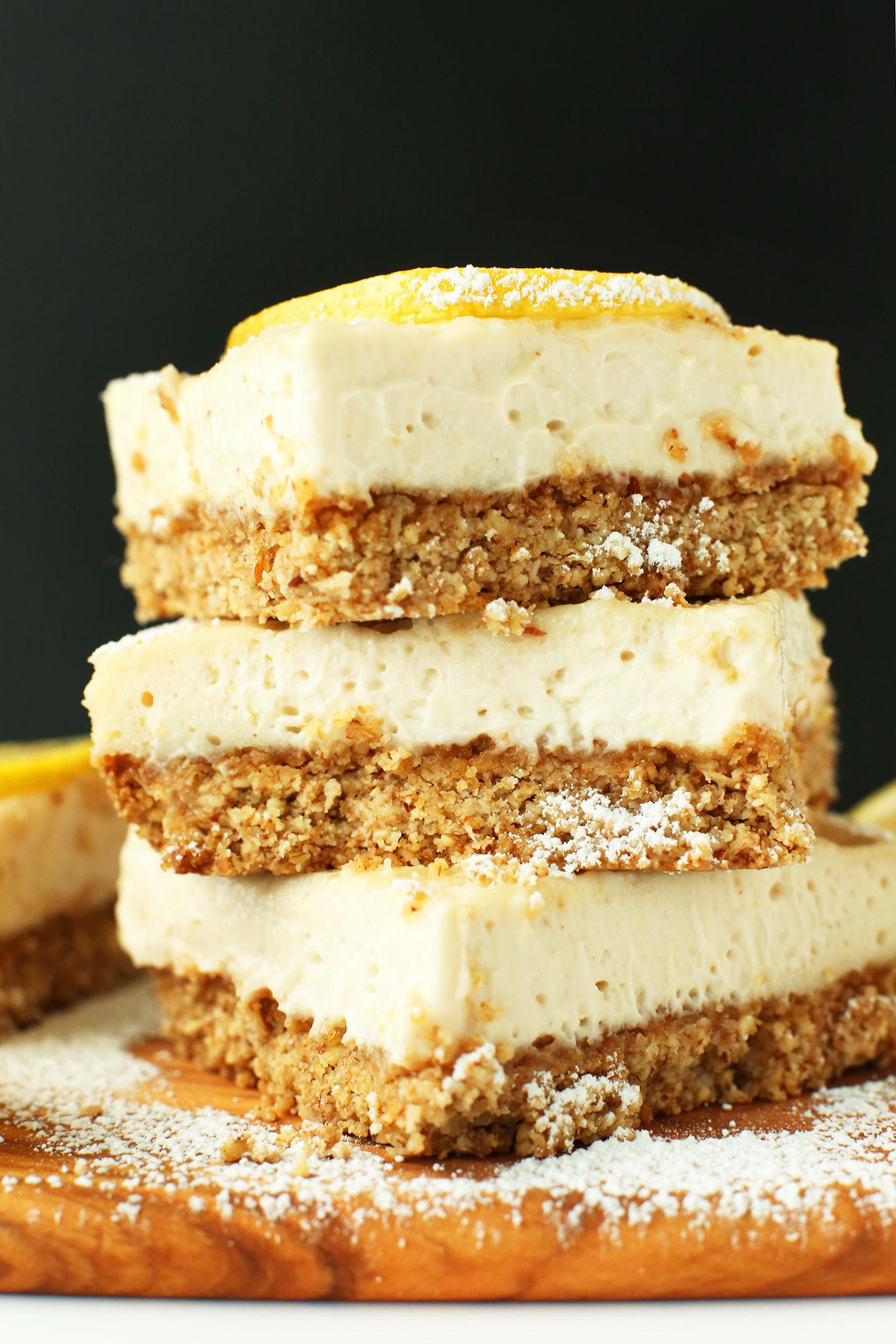 Vegan Dairy Free Desserts  Creamy Vegan Lemon Bars GF