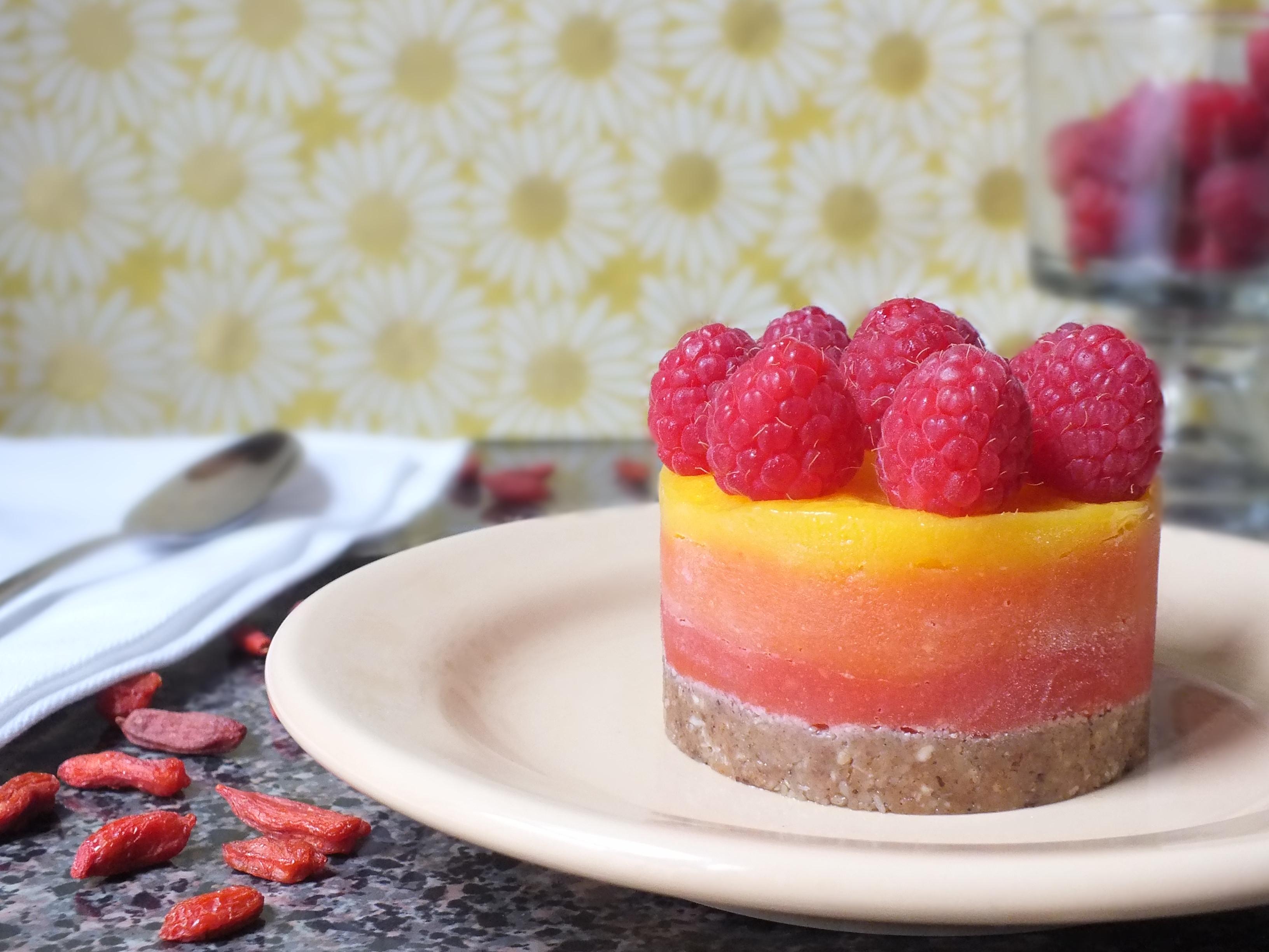 Vegan Dairy Free Desserts  Berry Mango Sunrise Tarts [Raw Gluten Free Dairy Free