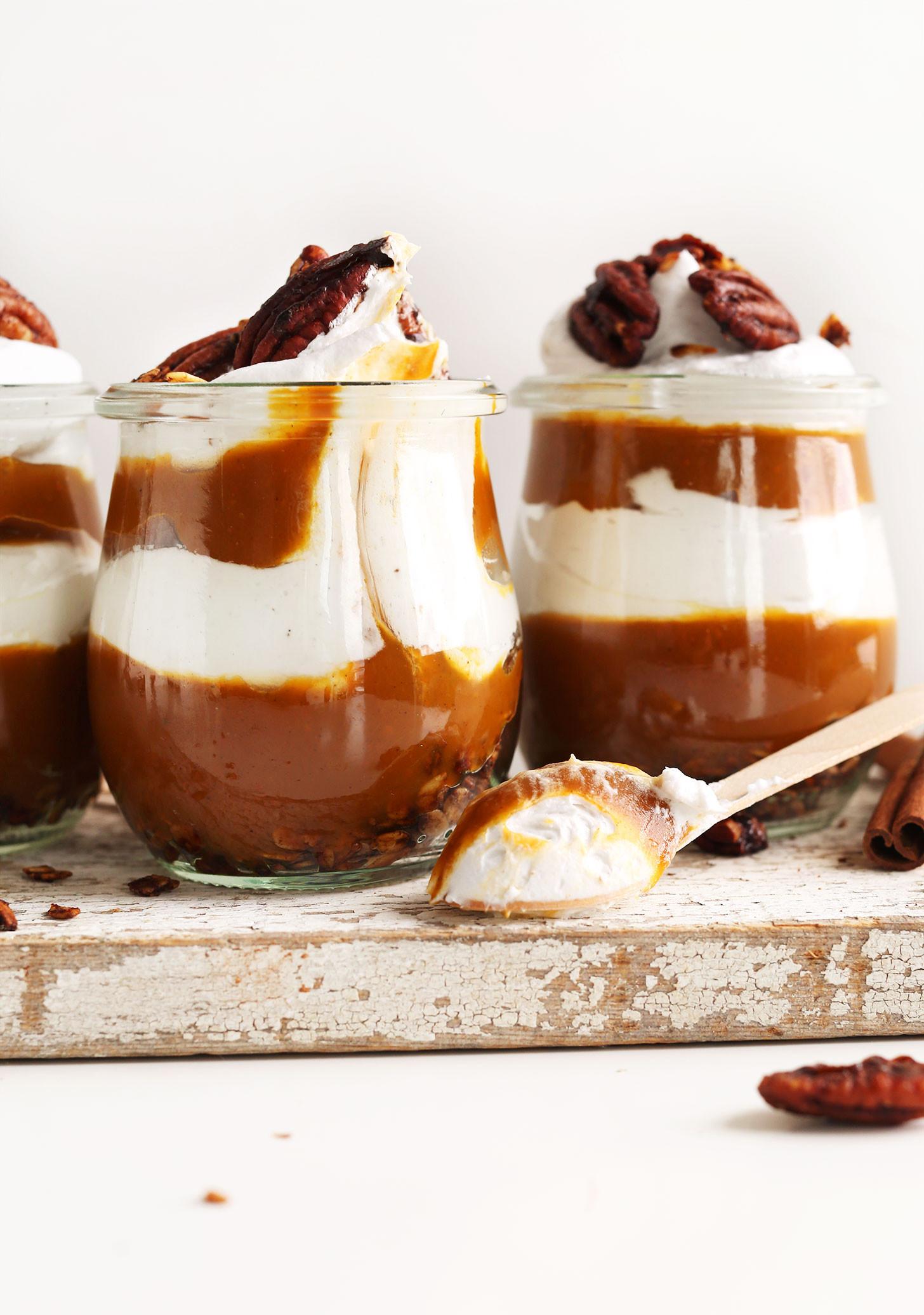 Vegan Dairy Free Desserts  Pumpkin Pie Parfaits