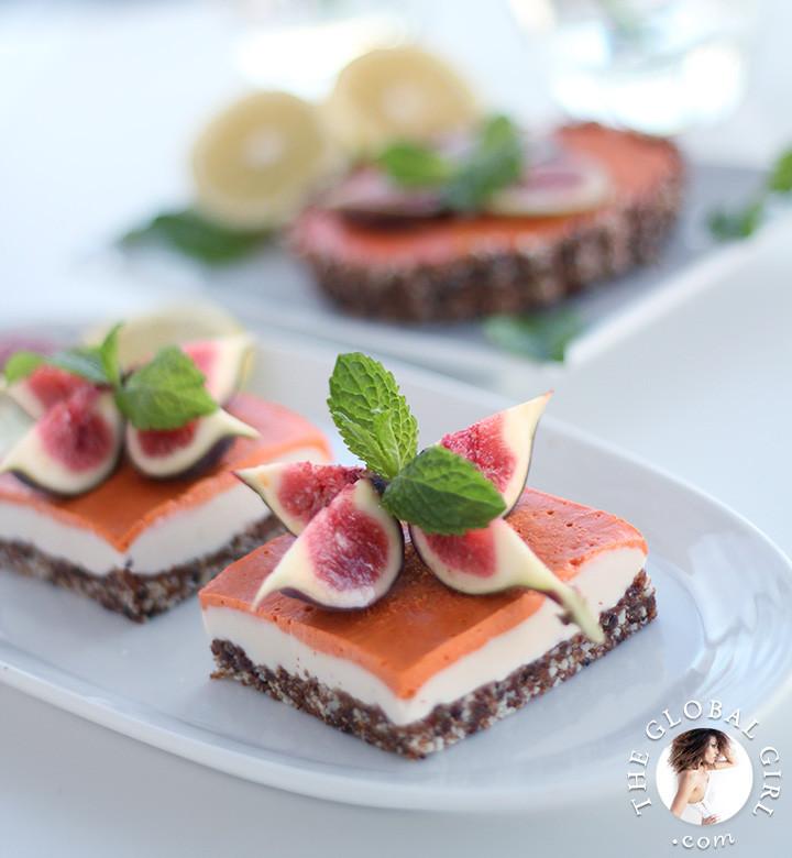Vegan Dairy Free Desserts  Vegan Lemon Goji Berry Cheesecake Raw & Gluten Free