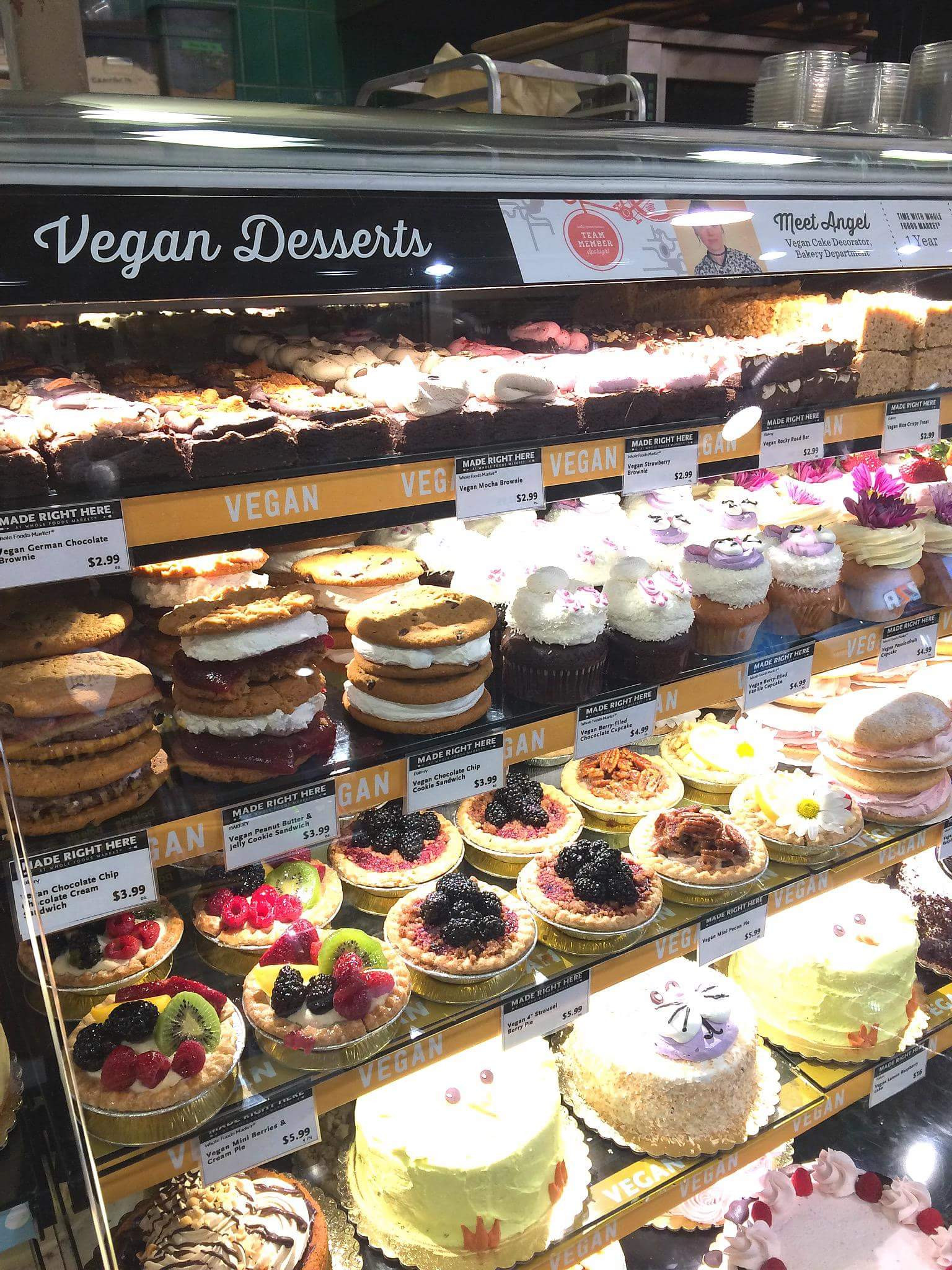 Vegan Desserts At Whole Foods  Whole Foods in San Diego has an entire section dedicated