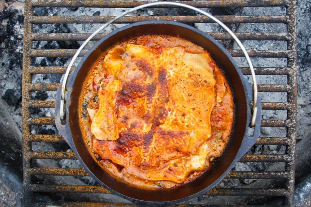 Vegan Dutch Oven Camping Recipes  Campfire Dutch Oven Recipe Ve arian Lasagna Perfect