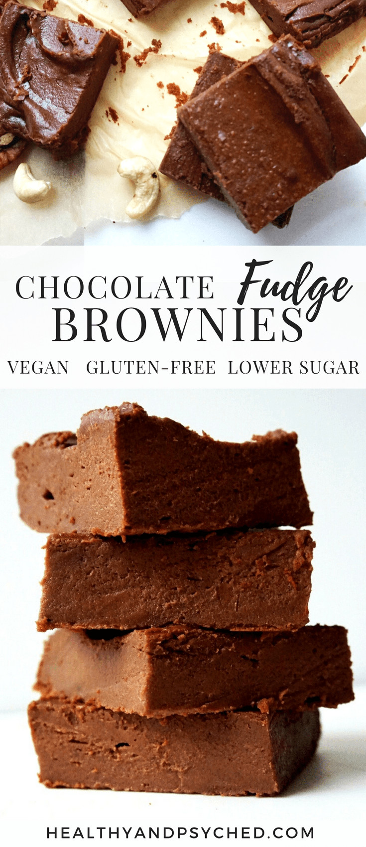 Vegan Fudge Brownies  Chocolate Fudge Brownie Recipe Vegan Gluten Free