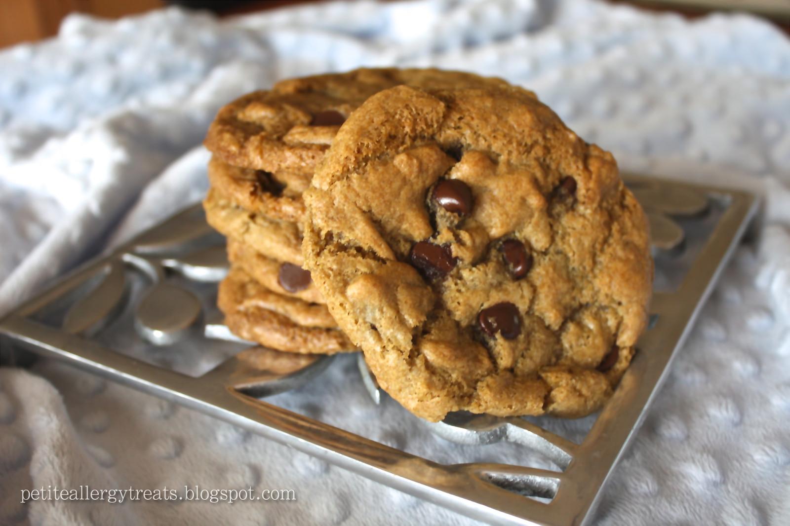 Vegan Gluten Free Chocolate Chip Cookies  Gluten Free Vegan Chocolate chip cookies Petite Allergy