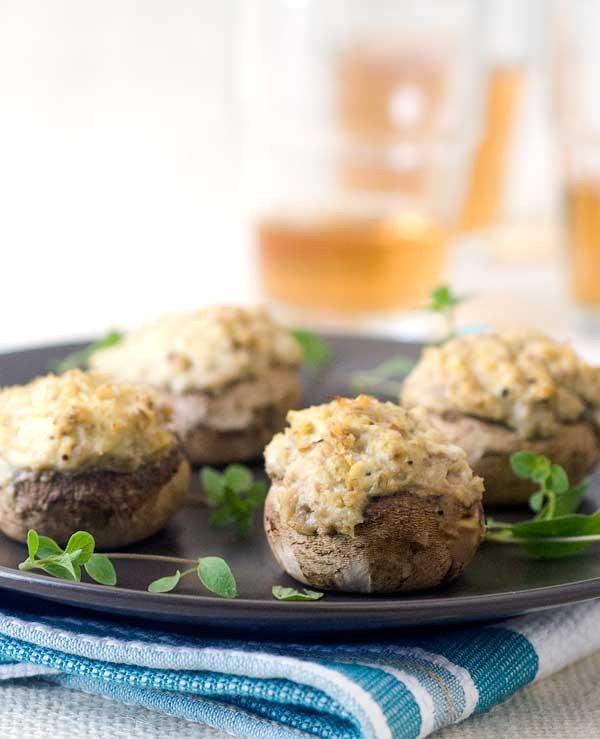 Vegan Gluten Free Stuffed Mushrooms  Gluten Free Vegan Stuffed Mushrooms
