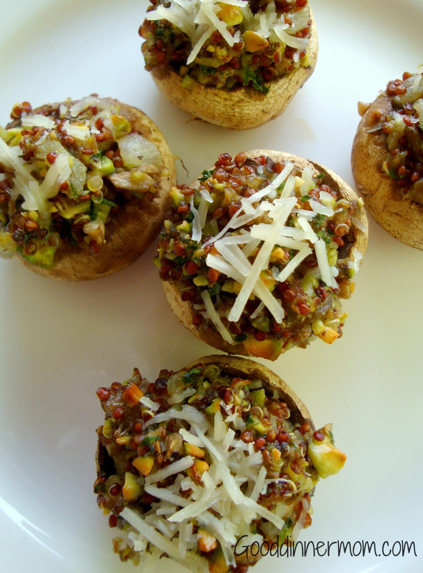 Vegan Gluten Free Stuffed Mushrooms  Stuffed Mushrooms with Quinoa Healthy Gluten Free