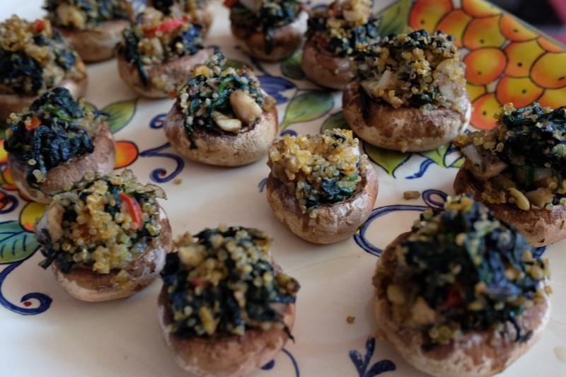 Vegan Gluten Free Stuffed Mushrooms  Austin s Vegan Gluten Free Stuffed Mushrooms Appetizer