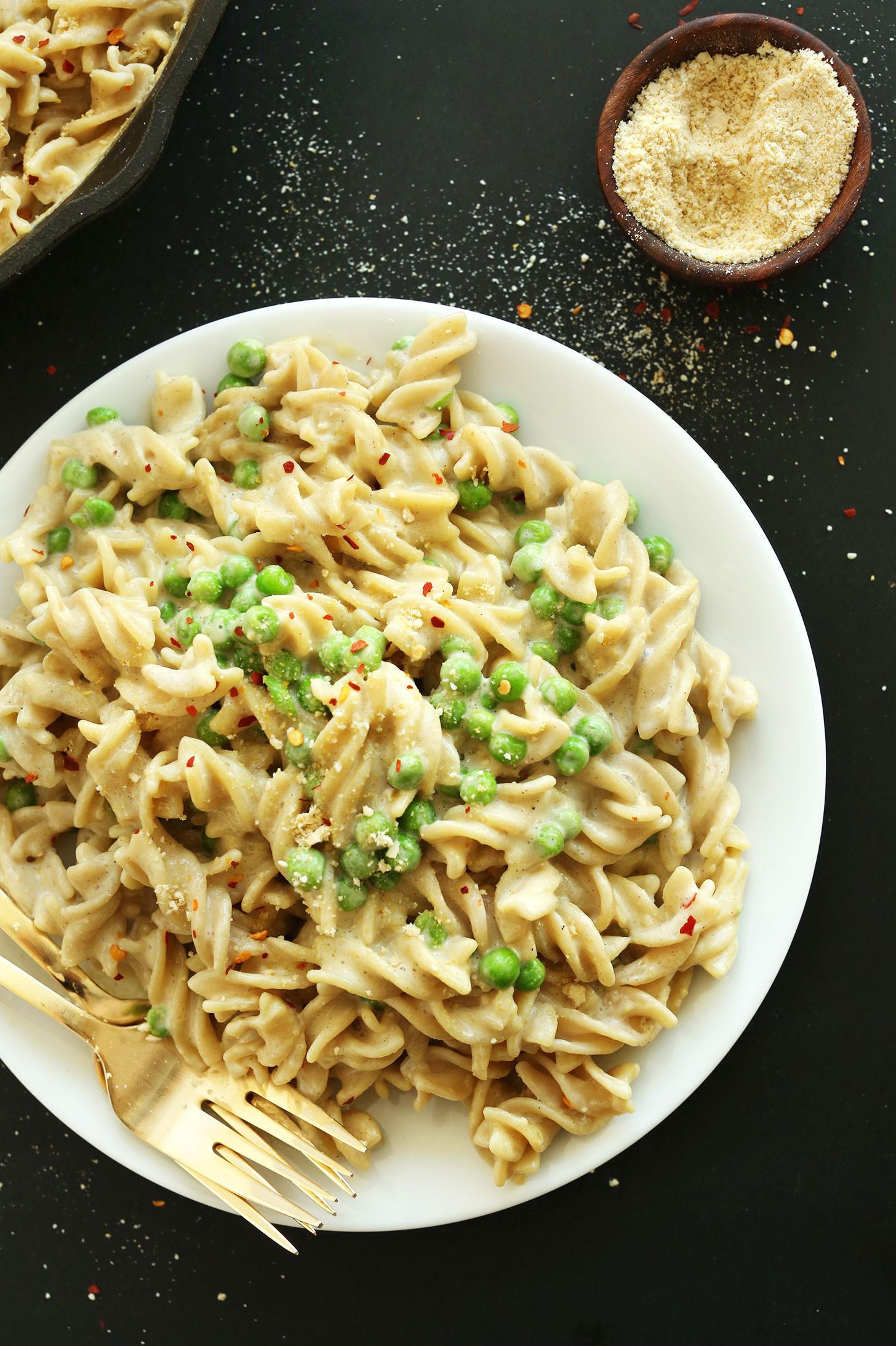 Vegan Homemade Pasta  Easy Vegan Alfredo GF