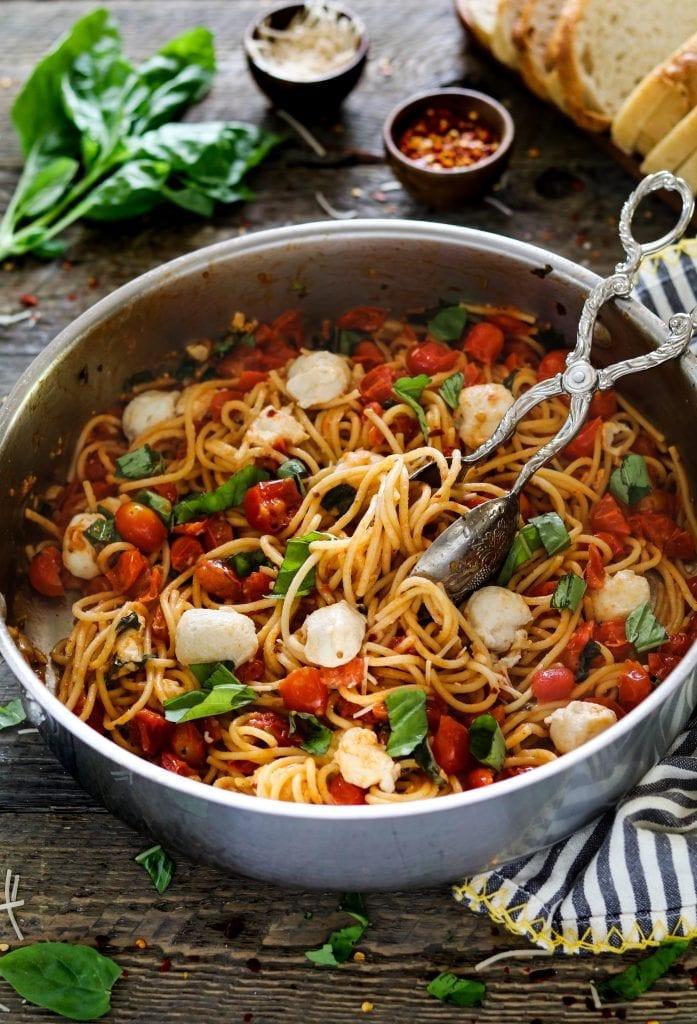 Vegan Homemade Pasta  Vegan Pasta Caprese 30 minute meal Vegan Huggs